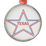 Star with Texas in it. Metal Ornament