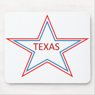 Star with Texas in it. Mouse Pad