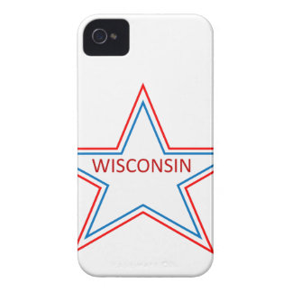 Star with Wisconsin in it. iPhone 4 Cover