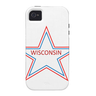 Star with Wisconsin in it. Case-Mate iPhone 4 Cover