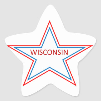Star with Wisconsin in it. Star Sticker