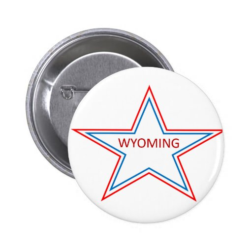 Star with Wyoming in it. Buttons