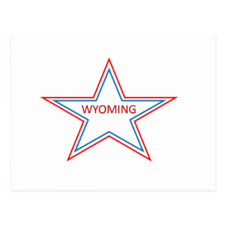 Star with Wyoming in it. Postcard