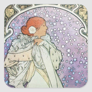 Star Woman Square Sticker