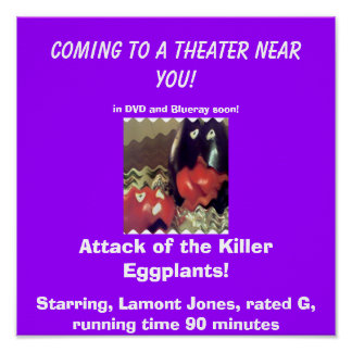 Star Yourself in, Attack of the Killer Eggplants! Poster