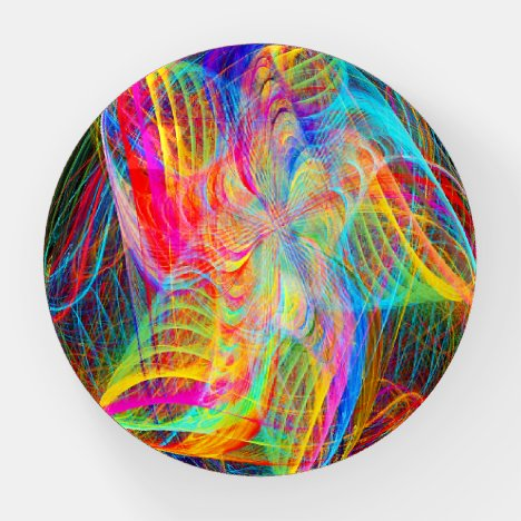 Staralizing  Colors Fractal Paperweight