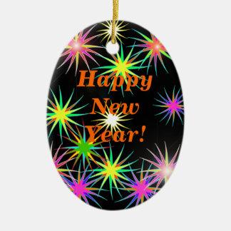 Starblast New Year Black Christmas Tree Ornaments