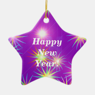 Starblast New Year Purple Christmas Tree Ornaments