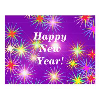 Starblast New Year Purple Postcard