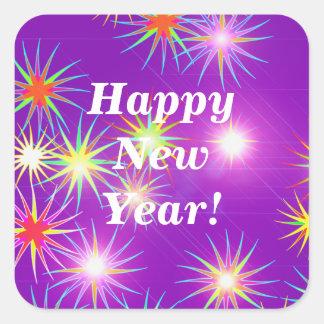 Starblast New Year Purple Stickers