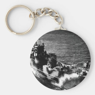 Starboard bow view of U.S. ship LCI 772_War Image Keychain