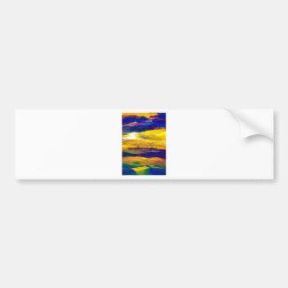 Starbright Sun Seascape Ocean Waves Art Bumper Sticker