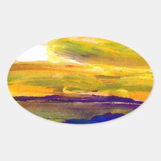 Starbright Sun Seascape Ocean Waves Art Stickers