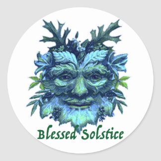 Starbucks Cup Sticker Blessed Solstice!