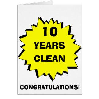 Starburst 10 Years clean Greeting Card