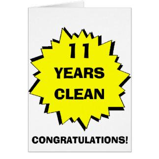 Starburst 11 Years clean Greeting Card