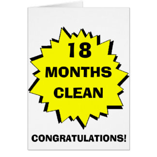 Starburst 18 Months clean Greeting Card