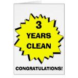 Starburst 3 años limpia felicitación