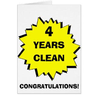 Starburst 4 Years clean Greeting Card