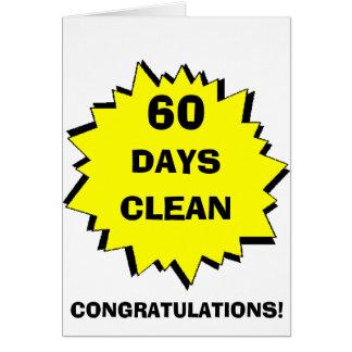 Starburst 60 days clean greeting card