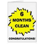 Starburst 6 Months clean Card