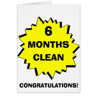 Starburst 6 Months clean Greeting Card