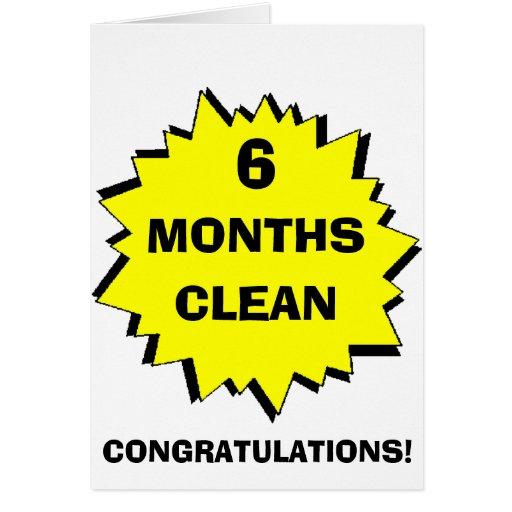Starburst 6 Months clean Cards