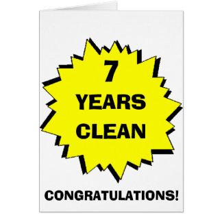 Starburst 7 Years clean Greeting Card