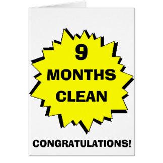 Starburst 9 Months clean Greeting Card