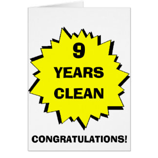 Starburst 9 Years clean Greeting Card