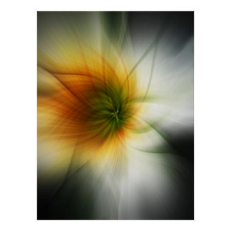 Starburst Abstract Poster