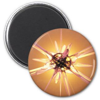 Starburst abstracto imán redondo 5 cm