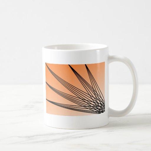 Starburst anaranjado taza clásica