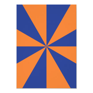 """Starburst anaranjado y azul invitación 5"""" x 7"""""""