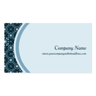 Starburst and Lines Mid Century Pattern Blue Business Card
