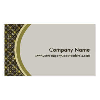 Starburst and Lines Mid Century Pattern Earth Hues Business Card
