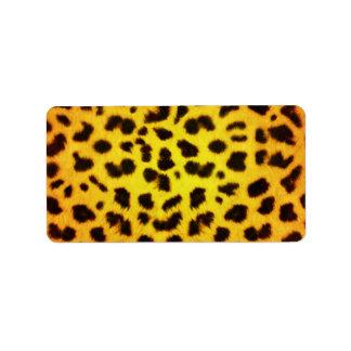 Starburst Animal Print Label