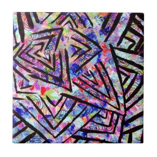 Starburst Azulejo Cuadrado Pequeño