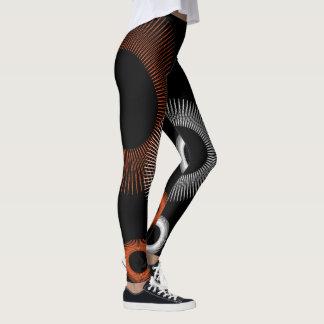 Starburst blanco anaranjado leggings