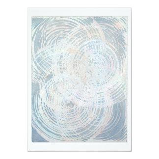 starburst, card, multi-color, blue, mandala 4.5x6.25 paper invitation card