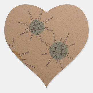 Starburst clock heart sticker