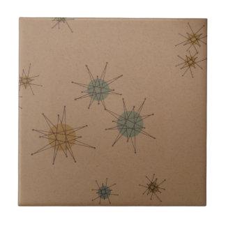 Starburst clock tile