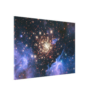 Starburst Cluster Shows Celestial Fireworks Canvas Print