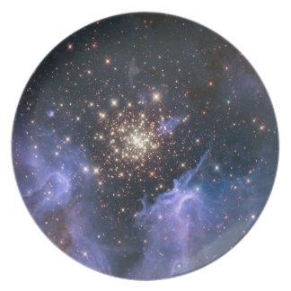 Starburst Cluster Universe Dinner Plate