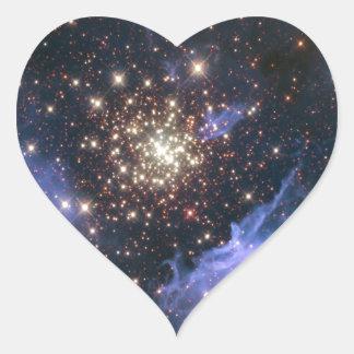 Starburst Cluster Universe Heart Stickers