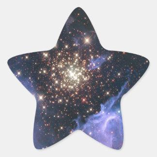 Starburst Cluster Universe Star Sticker