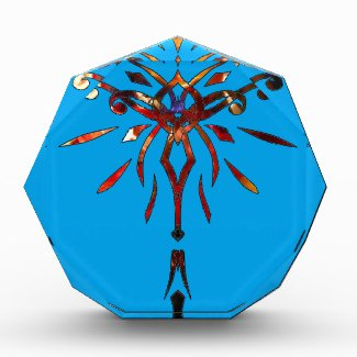 Starburst Colorful Acrylic Award Paperweight Gift