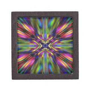Starburst colorido del caleidoscopio caja de joyas de calidad