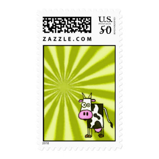 Starburst Cow Postage Stamps
