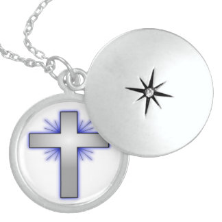 STARBURST CROSS STERLING SILVER NECKLACE